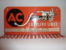 Vintage Original 1947 Painted Tin AC Flexible Gasoline Lines Rack Sparkplug
