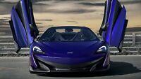 """McLaren 600LT Spider 2019 Blue Car Auto Art Silk Wall Poster Print 24x36"""""""