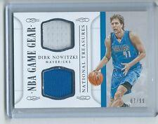 2014-15 National Treasures BKB #GGD-DN Dirk Nowitzki Mavericks GAME GEAR #/99!!!