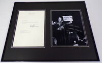 Harry S Truman Signed Framed 1962 Letter & Dewey Defeats Photo Display JSA