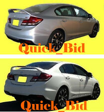2012-2014 HONDA CIVIC 4D FACTORY Si STYLE SPOILER REAR TRUNK WING - Painted Wing