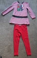 Girls Striped Christmas Outfit Sz. 6 Flapdoodles