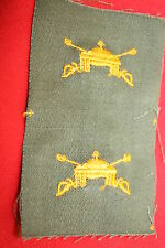 U.S. WW2 - KOREA M43 JACKET ARMOUR BADGE CLOTH US COLLAR BOS OFFICER ARMOR