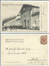 cartolina da museo favolosa moncenisio la chiesa in giorno di festa 1905 spedita