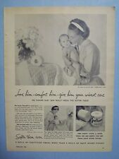 1955 Magazine Advertisement Page For Scot Tissue Toilet Paper Baby Vintage Ad