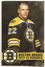 2012-13 Boston Bruins Pocket Schedule Lot of 22 Comcast Infinity Shawn Thornton