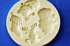 Sugarcraft Mold Mould  for sugarcake,Cupcake, Clay- Christmas #10