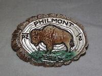 VINTAGE BSA BOY SCOUTS OF AMERICA PHILMONT BUFFALO  SLIDE   NECKERCHIEF HOLDER
