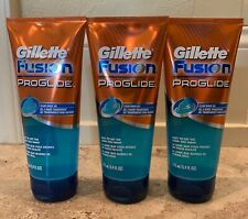 3 Pack Gillette Fusion Proglide Clear Shave Gel, Non-foaming 5.9 Fl Oz Each New