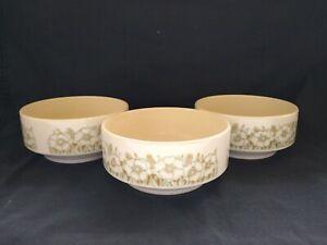 Hornsea Fleur Set Of 3 Ceramic Cereal / Soup Bowls