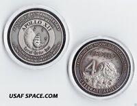 NASA APOLLO 12 - FLOWN TO THE MOON - COMMEMORATIVE 40TH ANNIVERSARY MEDALLION -