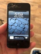 Apple iPhone 4- 16GB - Verizon- For Parts/AS IS-Cracked Screen