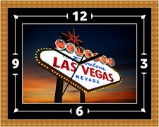 Reloj de las Vegas Regalo Presente Navidad Cumpleaños (personalizable)