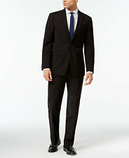 $810 CALVIN KLEIN Mens Extreme Slim Fit Wool Suit Black 2 PIECE JACKET PANTS 38S