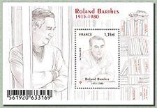france 2015 Roland Bartes famous people writer ecrivain ms 1v mnh **