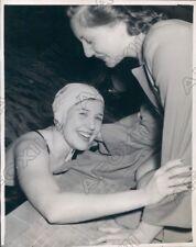 1946 Washington Swimming Competition Nancy Merki & Brenda Helser Press Photo
