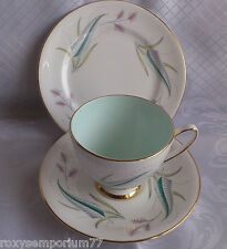 ROYAL STANDARD CHINA ENCHANTMENT TRIO TEACUP SAUCER TEA SIDE PLATE DUCK EGG BLUE