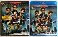 MARVEL BLACK PANTHER BLU RAY + SLIPCOVER SLEEVE FREE WORLDWIDE SHIPPING