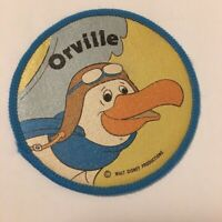 """Walt Disney Productions Rescuers Orville Patch Blue 3"""" Round Sew On Character"""