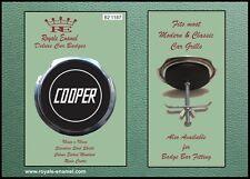 Royale Coche Clásico parrilla insignia + Accesorios-Mini Cooper Negro B2.1187