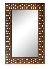 Wood Mirror Frame with Bone Inlay