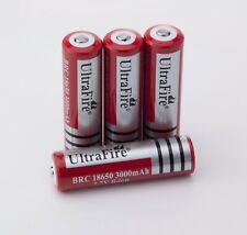 4x UltraFire 18650 BRC geschützter Li-Ion aufladbare Akkus 3000 mAh