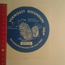 Pegatina/sticker: VIRBAC medicamentos veterinarios desaparecidas encontrado (181216165)