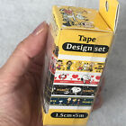 Set of 4 Peanuts Snoopy Washi Masking Tape 15mm x 5m each YOU PICK