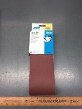 """5/PACK of 4"""" X 24"""" Norton Aluminum Oxide Belt Sander 180 Grit Paper. #05285"""