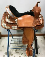 "Billy Cook 16"" Pleasure Show Saddle LOTS of Silver Model #2000 ~ NEW"