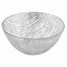 Badash Silver Lines Handcrafted Glass Bowl (KM710S)