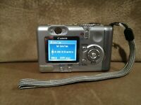 Canon PowerShot A85 4.0 MP Digital Camera - Silver 11x Zoom PC1204 Tested Work