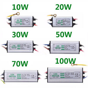 LED Driver Power Supply 10W/20W/30W/50/70/100W transformer AC85-265V Waterproof