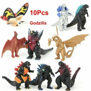 10Pcs Godzilla 2 King Of The Monsters Ghidorah Mothra Action Figure Model Toys