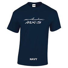 MX5 Mazda Car logo Miata Eunos t shirt Silver logo  8 colours sizes S to 5XL