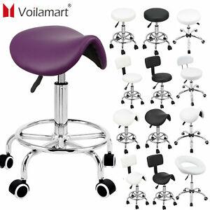Salon Saddle Stool Swivel Hairdress Beauty Chair Hydraulic Lift Adjustable Seat