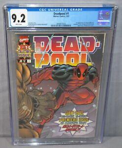 DEADPOOL #1 (T-Ra & Blind Al 1st app) CGC 9.2 NM- White Pages Marvel Comics 1997