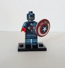 Lego Super Heros Marvel - Captain America CHROME Minifigure Custom