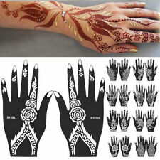 India Henna Temporary Tattoo Stencils For Hand Leg Arm Feet Body Art Decal New