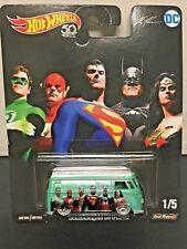 Hot Wheels Volkswagen T1 Panel Bus Alex Ross DC Justice League RR's 1:64 8+
