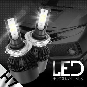 2x H7 388W DUAL-Side LED Headlight 6000K Light Truck Car Bulb White Beam 38800LM