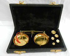 Boxed Set of Antique Design Brass Apothecary's Scales 0 - 20 grams BNIB