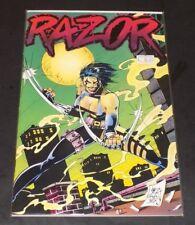 "Razor #3 & #4  ""F/VF to ""VF"" #3 w/poster -London Night Studios- 2 Comics Balent!"