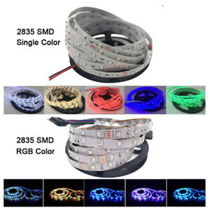 5M/Roll RGB Warm Cool White Red Green Blue Yellow Flexible 3528 LED Strip Lighs