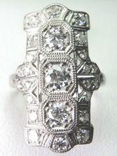 Antique Art Deco Vintage Platinum Diamond Engagement Dinner Ring EGL USA Size 6