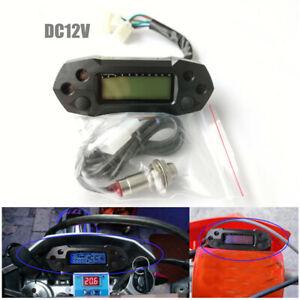 Motorcycle Speedometer Digital Odemeter Electric Injection Carburetor DC12V