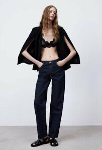 Zara Black Cape with Slits, Size M, BNWT