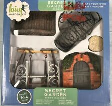 Fairy Garden Kit Secret Garden (12 pc) Bridge Swing Garden Door New