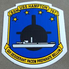 US Navy Decal - Sticker - USS Hampton SSN 767