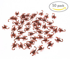 50 X  Fake Scorpion Simulated Insect Joke Toys Prank Toy Scorpion Toy look real